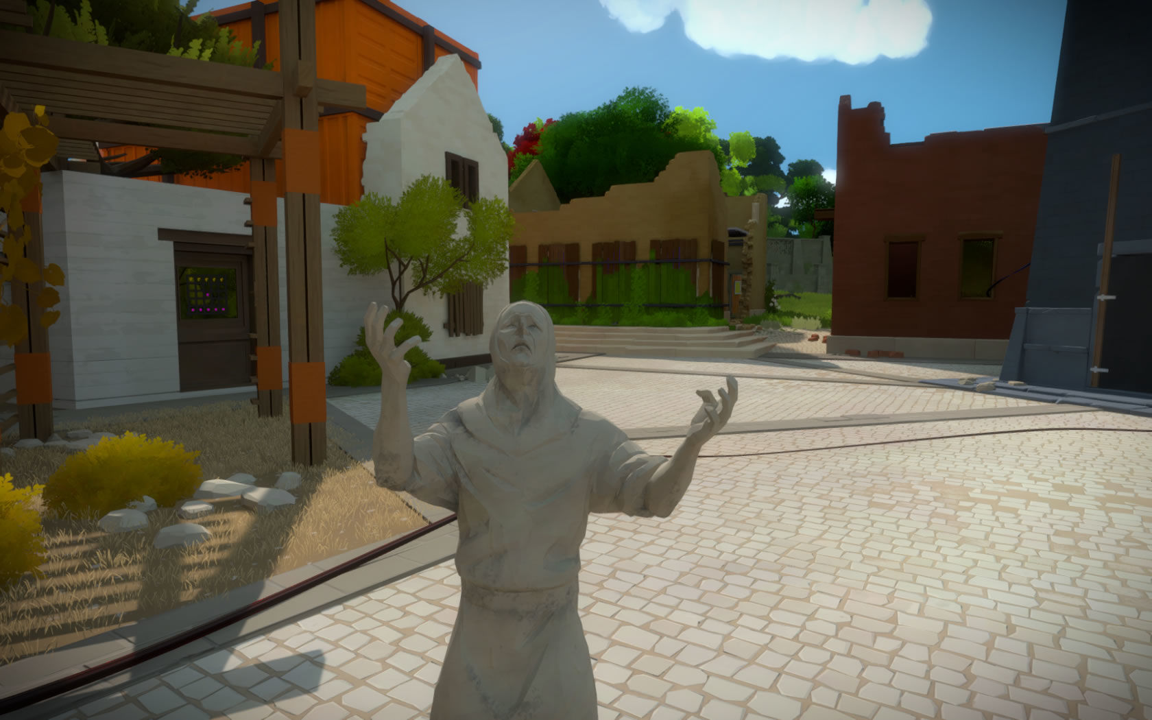 the witness statue